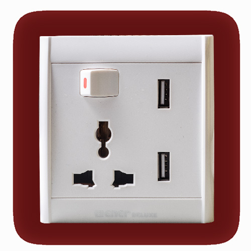 13A Multi Socket with USB