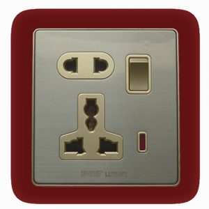 5 Pin Multi Socket With Switch