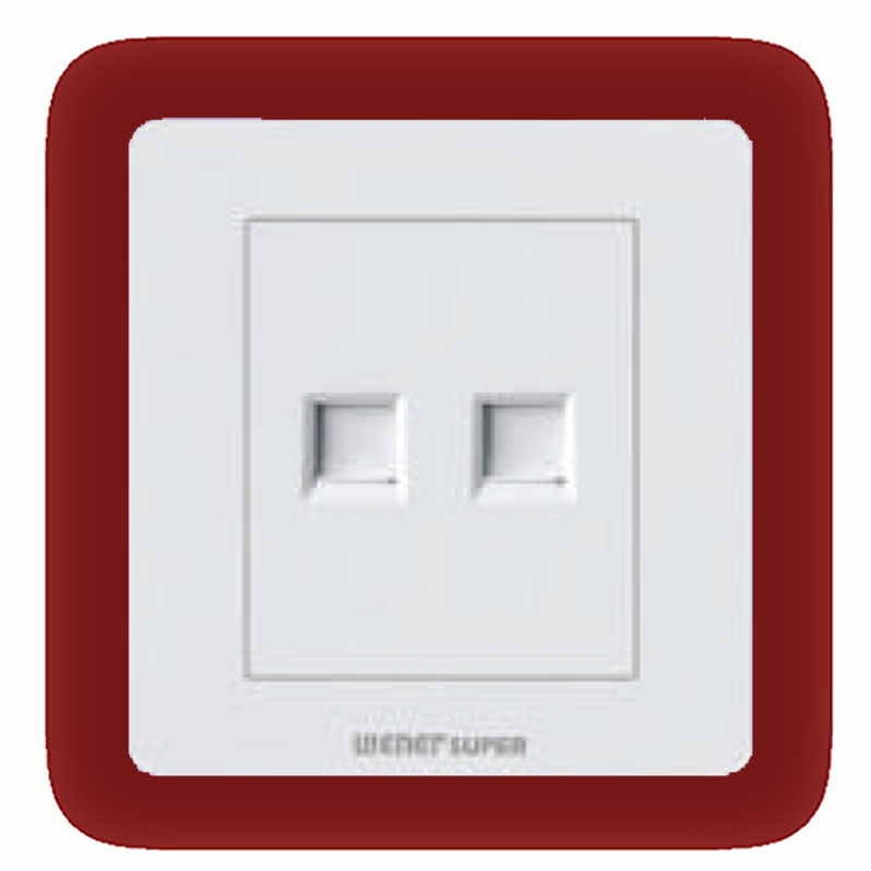 wener super double telephone socket